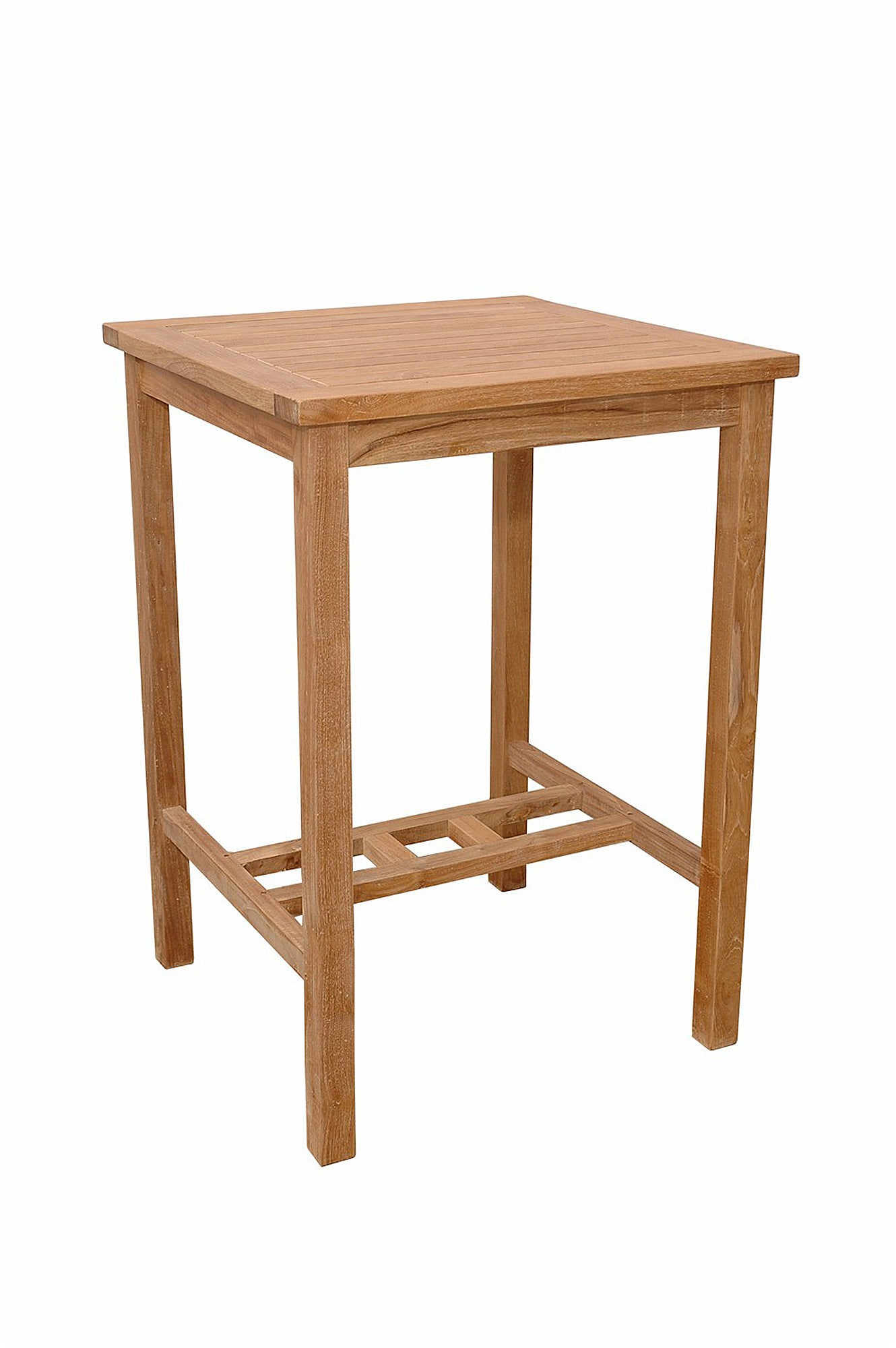 Anderson Collections Avalon 27 Inch Square Teak Bar Table