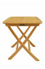 Windsor 24 inch Square Picnic Folding Teak Table |TBF-024S -  Furniture - Teakwood Central