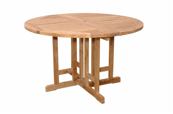"Anderson Teak | Butterfly 47"" Round Folding Teak Table 