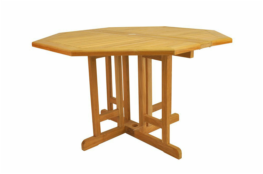 "Anderson Teak | Butterfly 47"" Octagon Folding Teak Table 