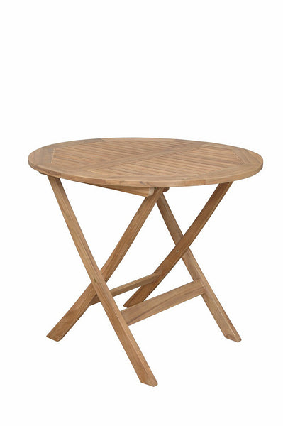 "Anderson Teak | Chester 32"" Round Teak Folding Picnic Table 