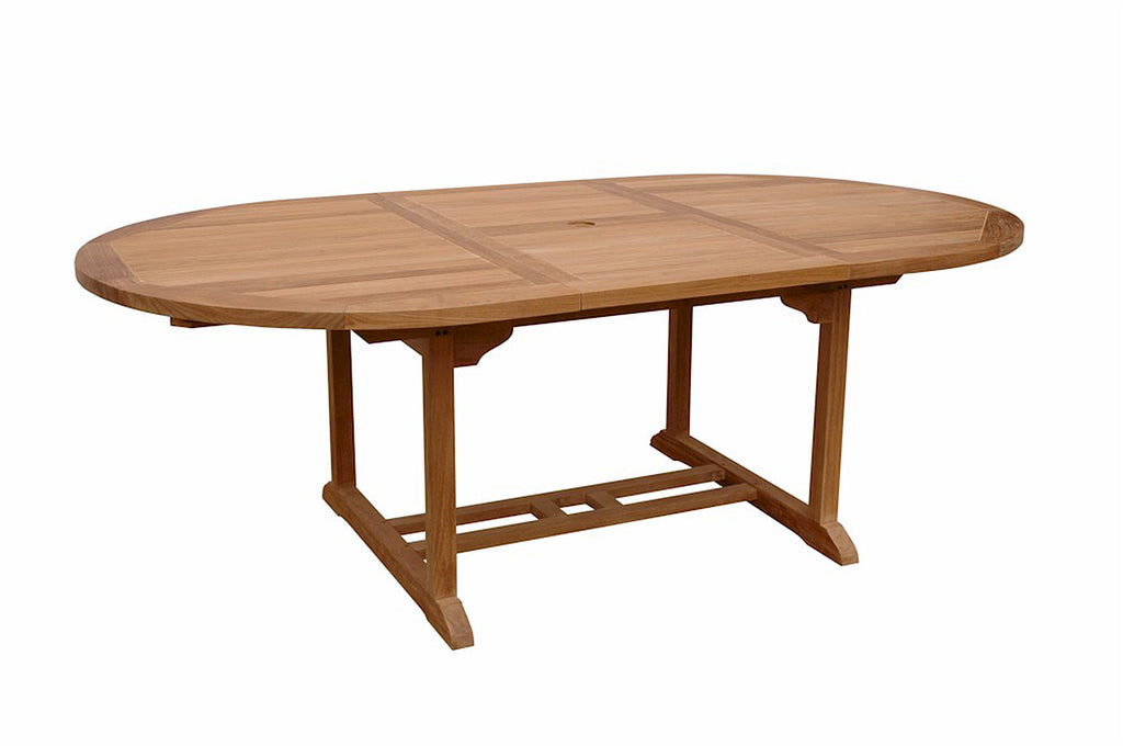 Anderson Teak | Bahama 87 inch Oval Extension Teak Table |TBX-087VT -  Furniture - Teakwood Central