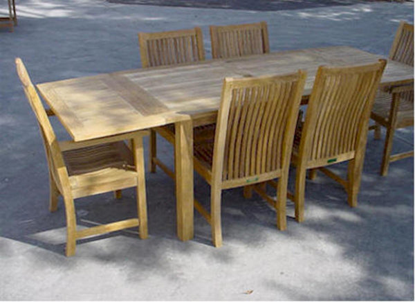 "Anderson | Bahama 95"" Rectangular Table w/ Double Leaf Extensions 