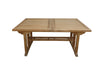 "Anderson Teak | Sahara 106"" Rectangular Double Ext. Table 