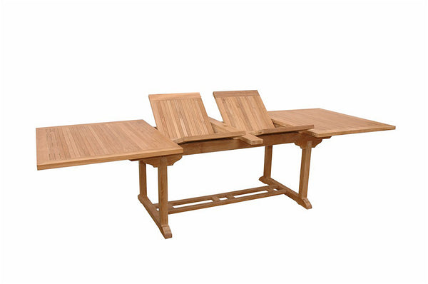 "Anderson Teak | Valencia 117"" Rectangular Extension Teak Table 