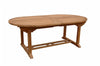 Anderson Teak | Bahama 117 inch Oval Extension Teak Table |TBX-117VD -  Furniture - Teakwood Central
