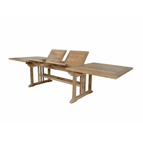 "Anderson Teak | Sahara 126"" Rectangular Double Ext. Table 