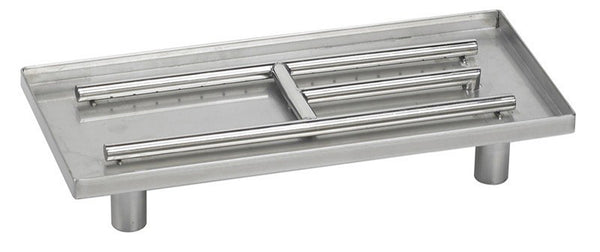 Stainless Steel Rectangular Pan Burner |AFG-SSR -  Fireplaces - Teakwood Central