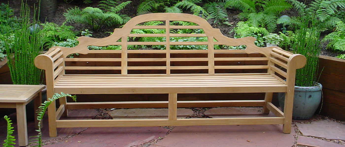 Teak wood outdoor furniture - garden bench