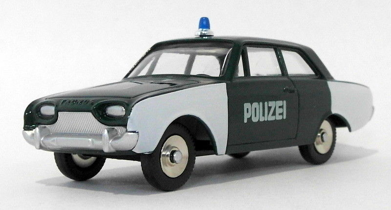 Atlas Editions Dinky Toys - #551 Ford Taunus Polizeiwagen - Green/White