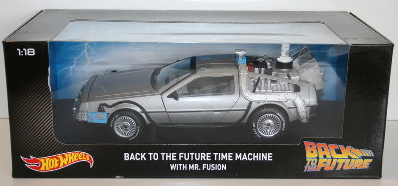 Hot Wheels CMC98 1/18 Scale Diecast Back To The Future DMC DeLorean Time Mcahine