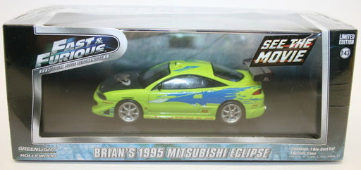 Greenlight 1/43 Scale Model 86203 Fast & Furious Brians '95 Mitusbishi Eclipse