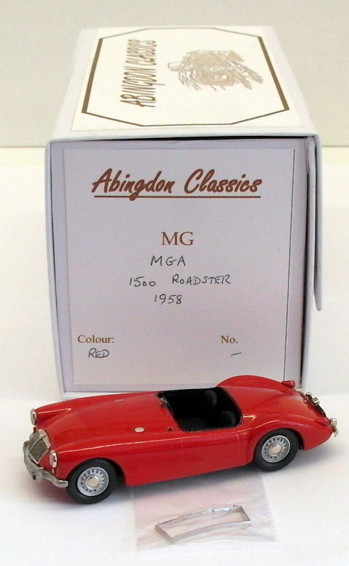 Abingdon Classics 1/43 Scale AC1A - 1958 MGA 1500 Roadster - Red