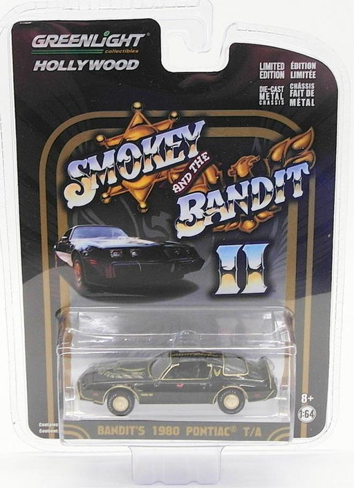 Greenlight 1/64 Scale 44710-B - 1980 Pontiac T/A - Smokey & The Bandit Chase Car