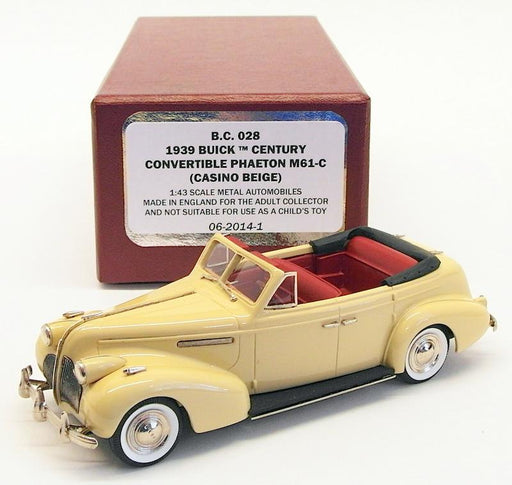 Brooklin Models 1/43 Scale BC028 - 1939 Buick Century Convertible Phaeton M61-C