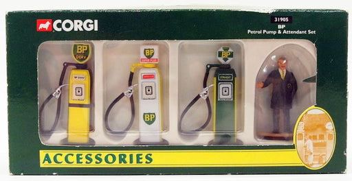 Corgi Appx 1/43 Scale 31905 - Model Car Petrol Pump & Attendant Set - BP