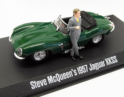 Greenlight 1/43 Scale 86434 - Steve McQueen 1957 Jaguar XKSS - Green