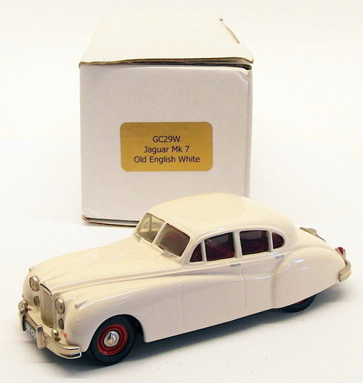 Gems & Cobwebs 1/43 Scale Model Car GC29W - Jaguar Mk7 - Old English White