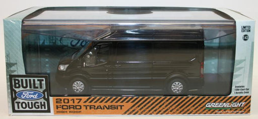 Greenlight 1/43 Scale Model Car 86084 - 2017 Ford Transit High Roof - Black