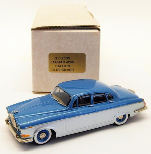 Gems & Cobwebs 1/43 Scale Model Car GC20BS - Jaguar 420G Saloon - Blue/Silver