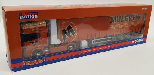 CORGI 1/50 CC12926 SCANIA TOPLINE CURTAINSIDE - MULGREW HAULAGE LTD