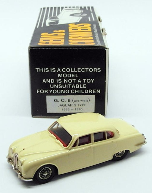 Gems & Cobwebs 1/43 Scale Model Car GC8 - 1963-70 Jaguar S Type - Yellow