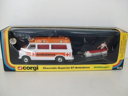 CORGI - 405 - CHEVROLET SUPERIOR 61 AMBULANCE WITH STRETCHER