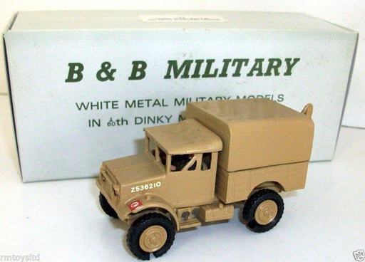 B&B MILITARY - 1/60 DINKY SCALE - 73 FORD 15 CWT WOTZE GS WITH A FRAME CRANE