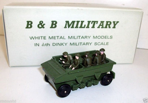 B&B MILITARY - 1/60 DINKY SCALE - 24 162A DRAGON TRACTOR 5 CREW RUBBER WHEELS