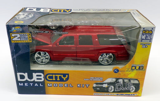 Jada Dub City 1/24 Scale Kit 55657 - 2000 Chevrolet Suburban - Red