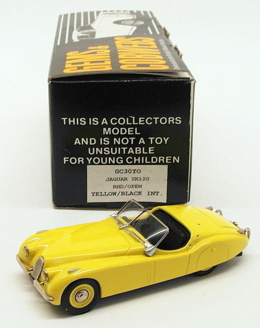Gems & Cobwebs 1/43 Scale Model Car GC30YO - Jaguar XK120 - Yellow
