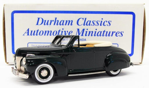 Durham Classics 1/43 Scale DC-15C - 1941 Ford Convertible Top Down - Dark Green