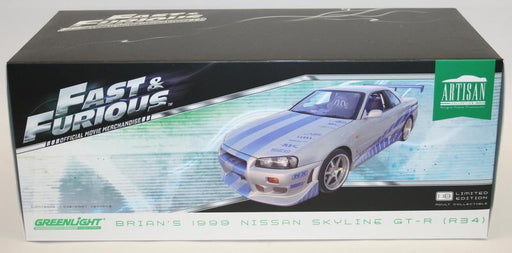 Greenlight 1/18 Scale 19029 Fast & Furious Brian's 1999 Nissan Skyline GT-R R34