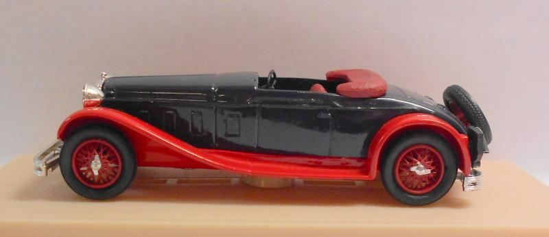 Eligor 1/43 Scale Diecast Model 1039 DELAGE D8 1934 CABRIOLET CAPOTE BLACK/RED