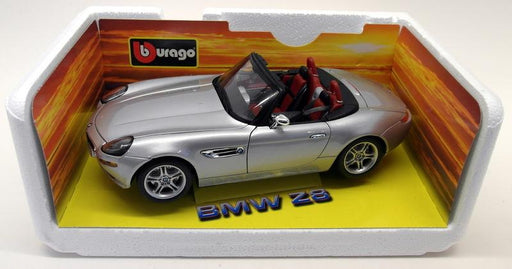 Burago 1/18 Scale Diecast 33772 BMW Z8 Silver Roadster Model Car