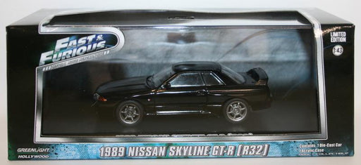Greenlight 1/43 Scale 86229 - Fast & Furious 1989 Nissan Skyline GT-R R32 -Black