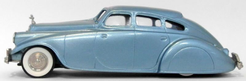Brooklin 1/43 Scale BRK1  - 1933 Pierce Arrow Silver Arrow Lt. Silver Blue Met.