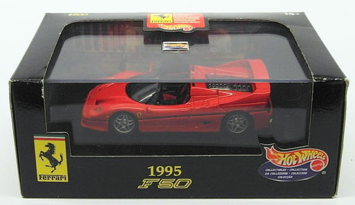 Hot Wheels 1/43 Scale Diecast Model Car 22180  - 1995 Ferrari F50 - Red