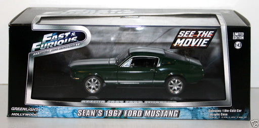 GREENLIGHT 1/43 - 86211 FAST & FURIOUS FORD SEAN'S 1967 FORD MUSTANG - GREEN