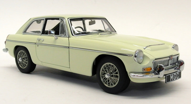 Autoart 1/18 Scale Diecast - 76621 MG MGC GT Coupe Snowberry White