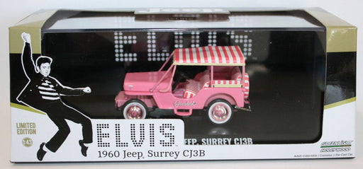 Greenlight 1/43 Scale 86472 - Elvis 1960 Jeep Surrey CJ3B