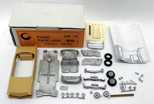 CCC Models 1/43 Scale White / Resin Metal Kit - US.3 Ford 55 Cabriolet Sunliner