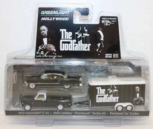 Greenlight 1/64 Scale 31030-B - The Godfather - 3 Piece Hitch & Tow Set