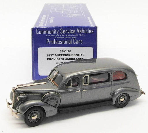 Brooklin Models 1/43 Scale CSV26 - 1937 Superior-Pontiac Provident Ambulance