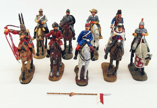 Del Prado DPR11518 - Collection Of 9 Model Soldiers On Horseback