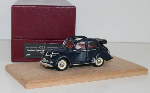 CCC MODEL 1/43 SCALE HAND BUILT RESIN MODEL - PANHARD DYNA X86 DECOUVRABLE 1951
