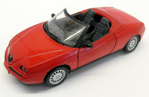 Maisto 1/18 Scale Diecast - 31831 Alfa Romeo Spider 1995 red (Paint)