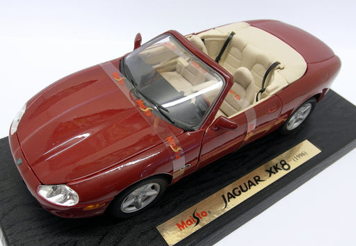 Maisto 1/18 Scale - 31836 Jaguar XK8 Convertible Dark Red