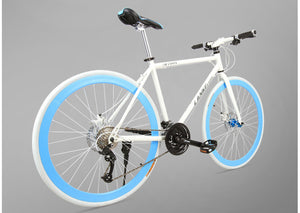 [FREE SHIPPING!] NEW 2016 Hybrid Commuter Bike / City Cycling 21/27 Speed Light Frame - Affordable Cycling & Sports