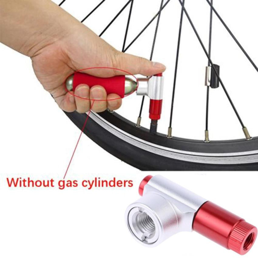 2017 New Hot Portable Bike Tire Air CO2 Inflator Pump Valve Head Bicycle Air Pump Mountain Cycling Tire Inflator Accessories #EW